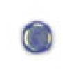 Glass Bead Flat 6mm Cobalt Aurora Borealis - Strung